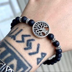 Tree of life & lava rock oil diffuser bracelet